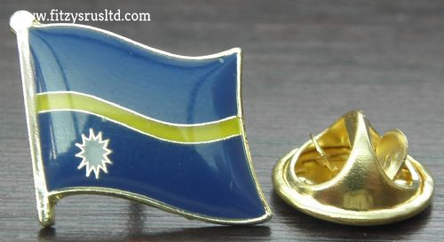 Nauru Flag Lapel Hat Cap Tie Pin Badge Ripublik Naoero Republic of Nauru Nauruan